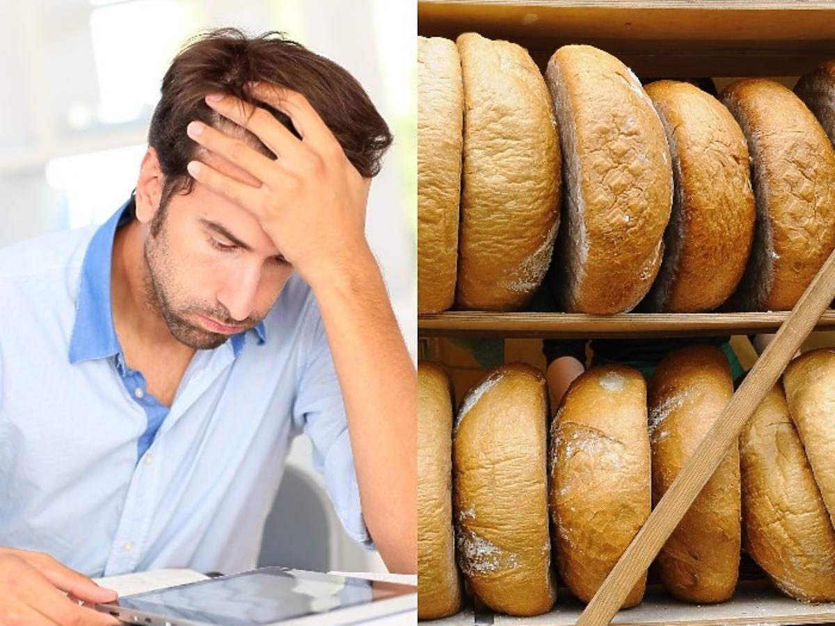 mężczyzna nie ma na chleb