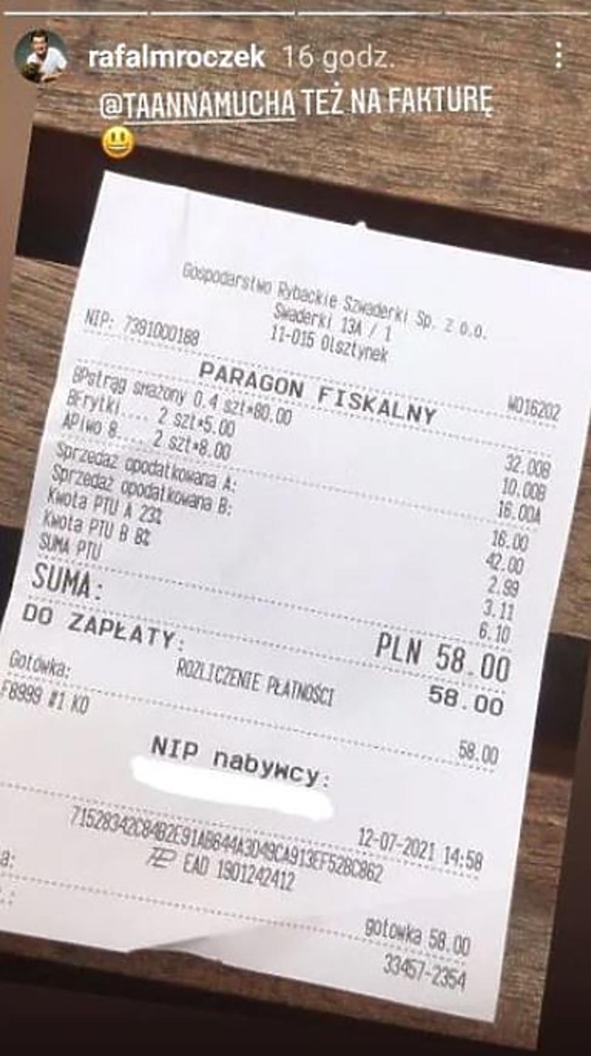 Anna Mucha nie ma lekko. Jej obiad za 700 zł wyśmiał także Rafał Mroczek