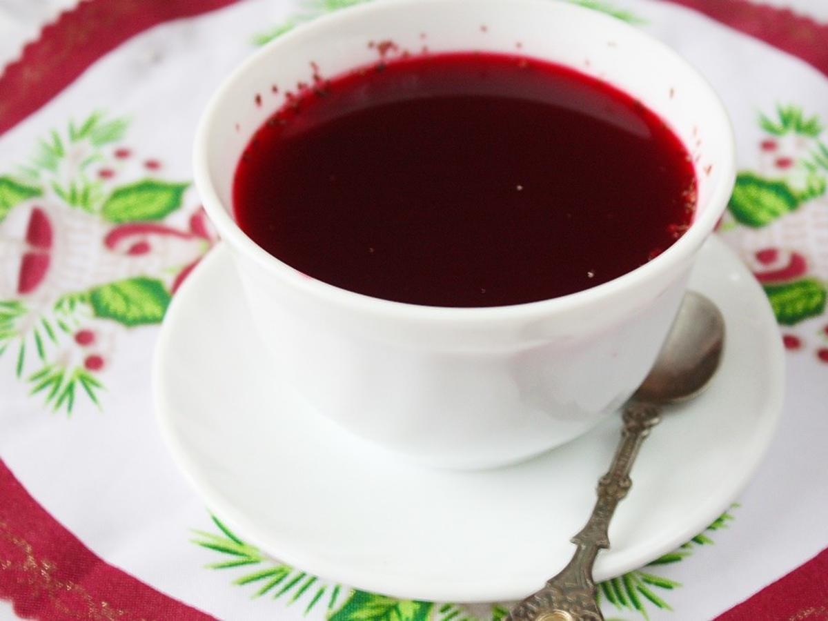 barszcz czerwony kolor