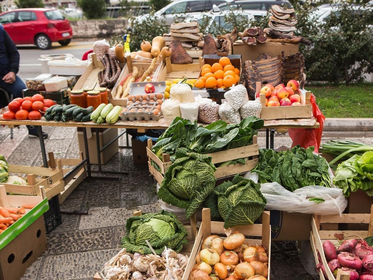 Bazar z warzywami
