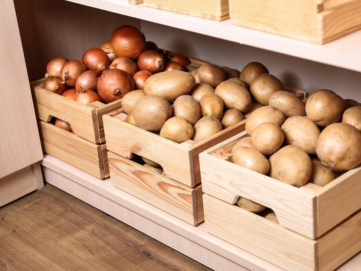 czy można trzymać ziemniaki z cebulą