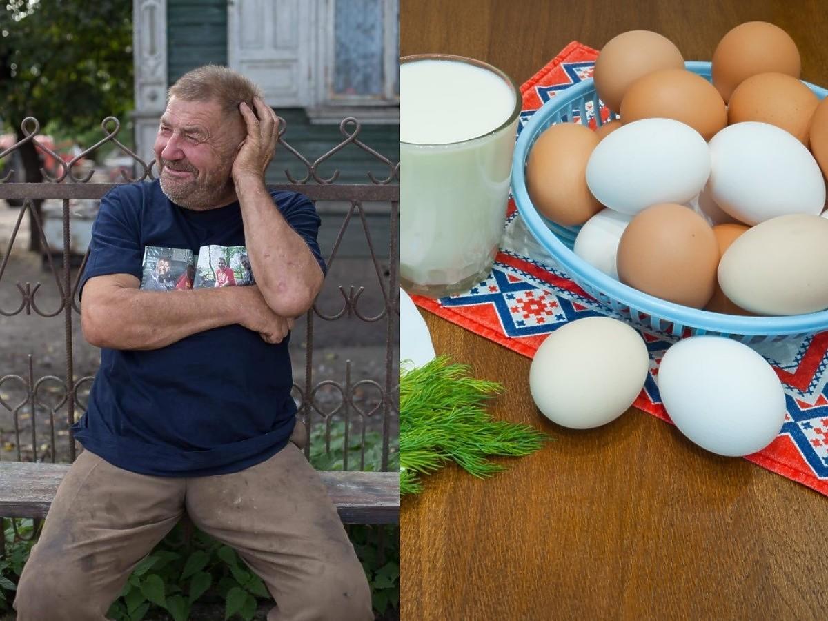 """Gienek z """"Rolników. Podlasie"""" narzeka na niską emeryturę. Ratują go mleko i jajka od własnych zwierząt"""