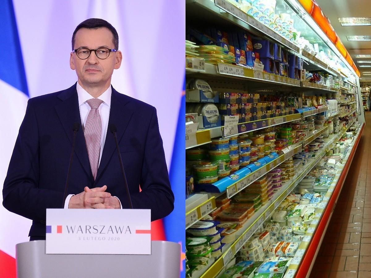 """Jedzenie drożeje, a Mateusz Morawiecki odcina się od wpływu rządu na inflację: """"Płace rosną szybciej"""""""
