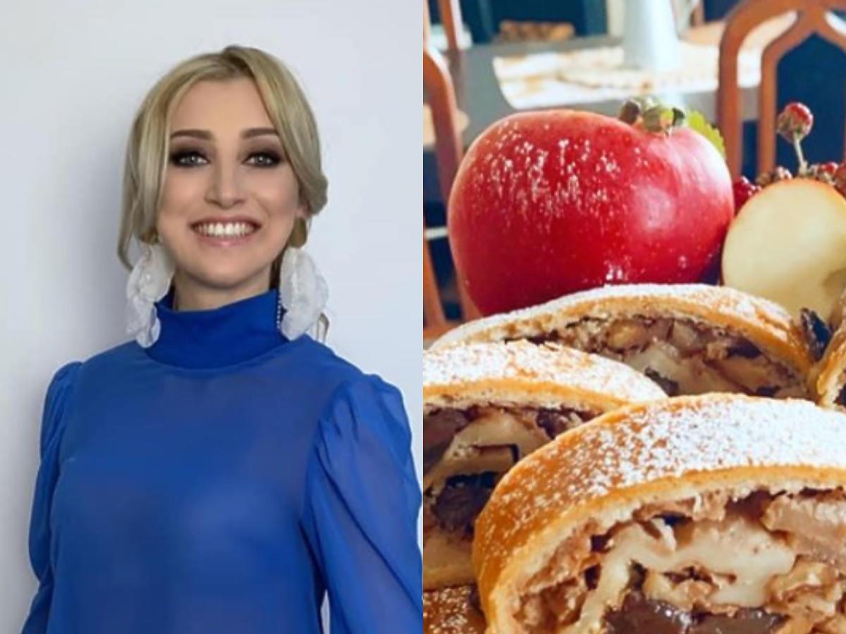 """Justyna Żyła chwali się wypiekami. Wolicie strudel z jabłkami czy """"turbo szybkie owoce pod kruszonką""""?"""