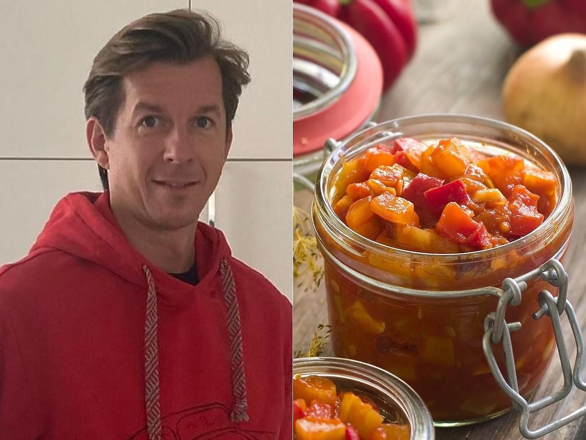 Karol Okrasa pokazał jak robi konfiturę z cukinii i pomidorów. Dodaje do niej 1 nietypowy składnik
