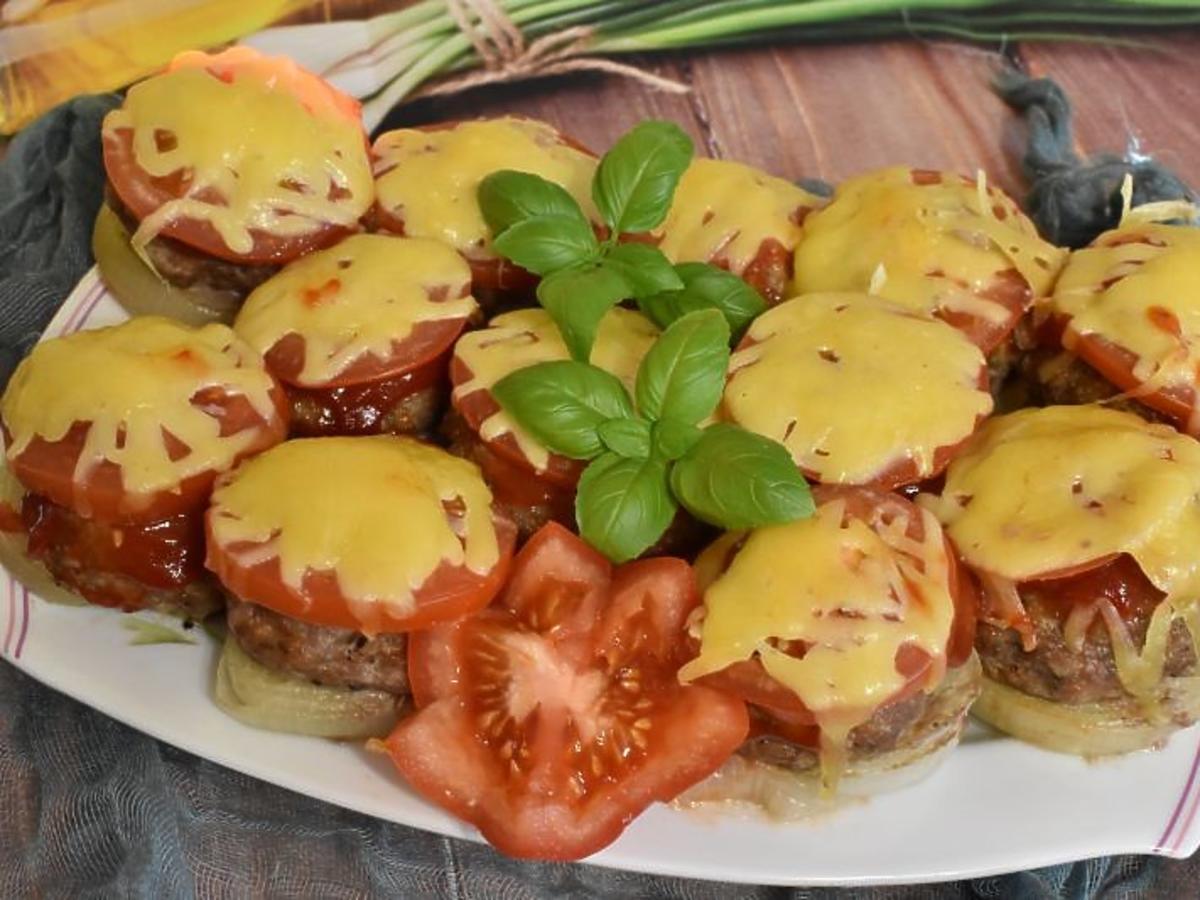 kotlety mielone bombowe z pomidorami i cebulą