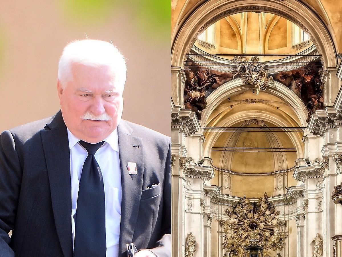 Lech Wałęsa poszedł po świątecznym śniadaniu do kościoła. W środku rozegrały się szokujące sceny