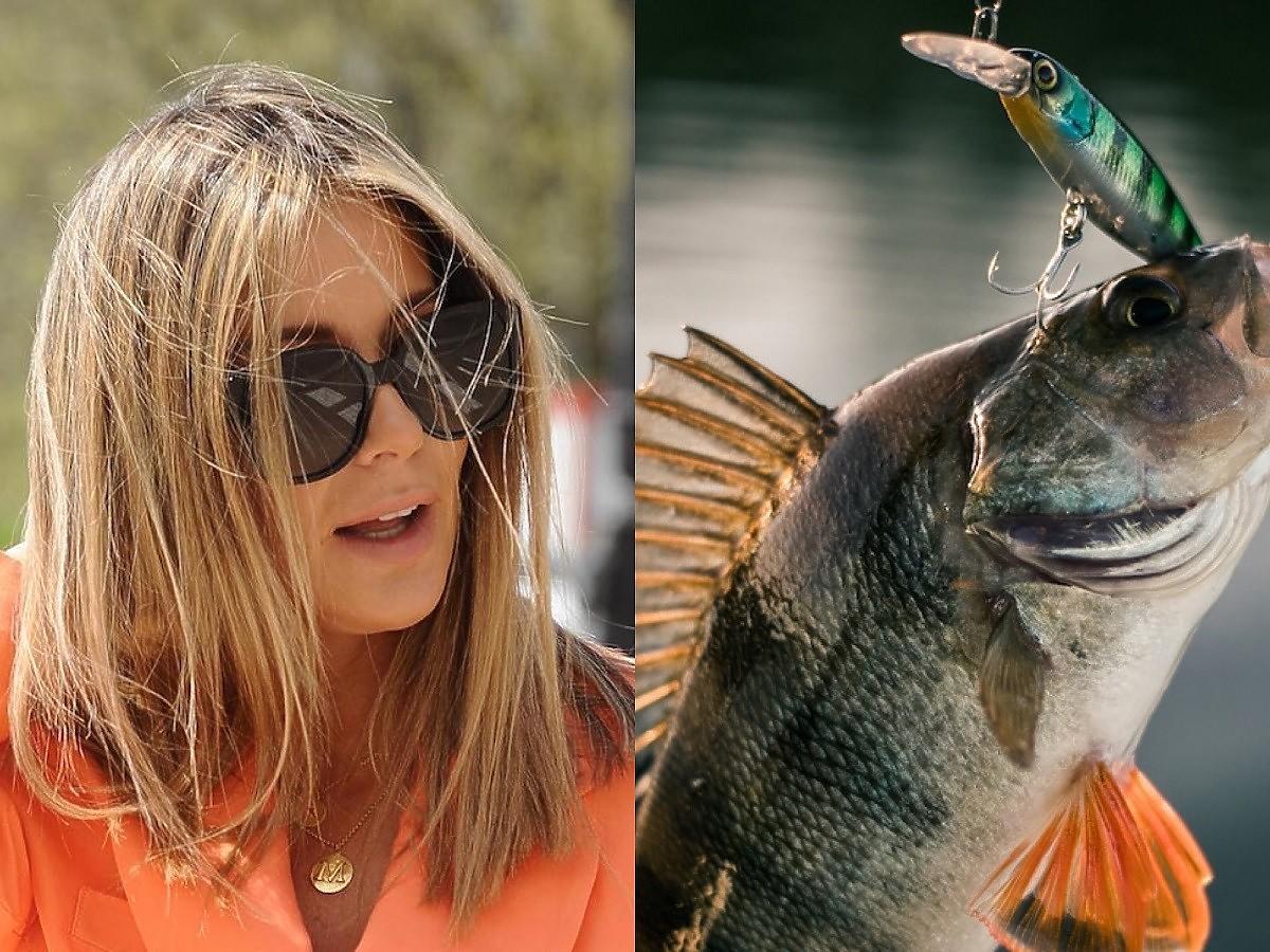 Małgosia Rozenek złowiła pierwszą w życiu rybę! Oswaja się na kamperze?