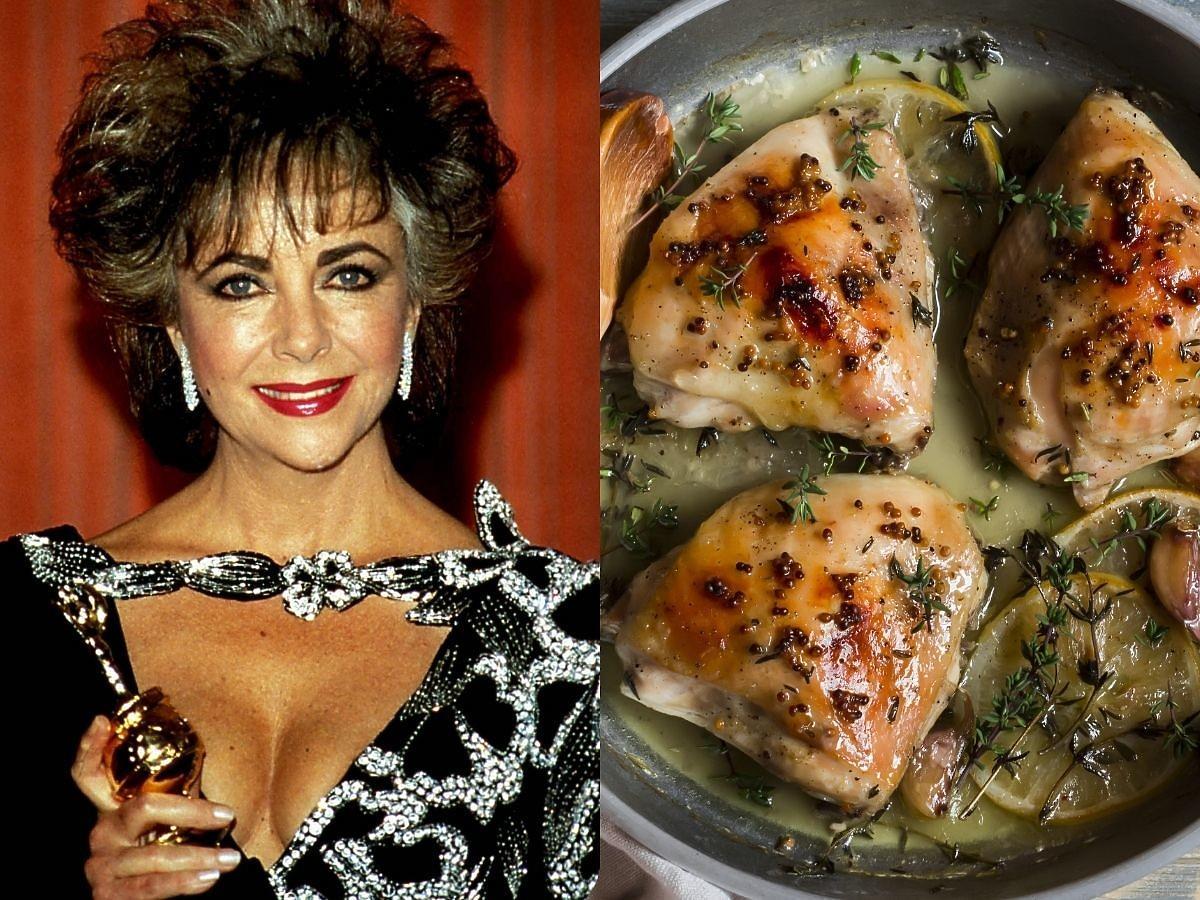 Mamy przepis na cudownego kurczaka w winie według Elizabeth Taylor. Ikona kina miała świetny gust