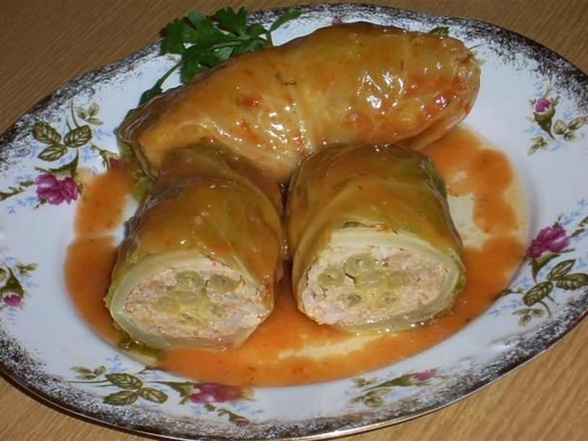 Przepis na gołąbki z fasolką szparagową. Znacie bardziej fantazyjną wersję tego dania?