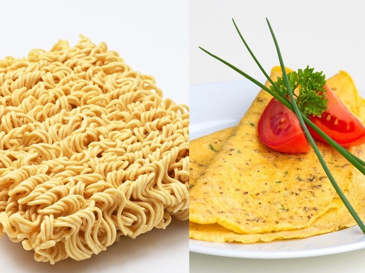 Przepis na omleta z zupką chińską