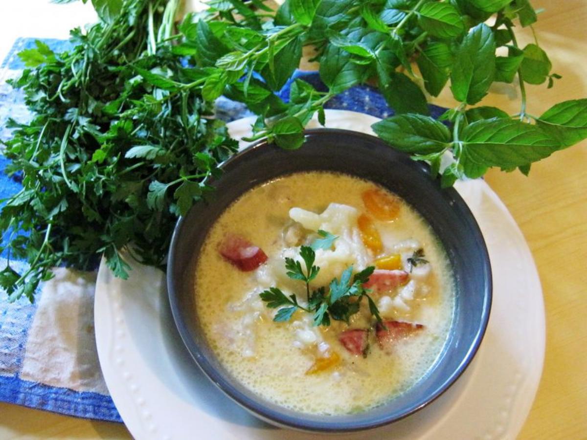 Przepis na zupę serową