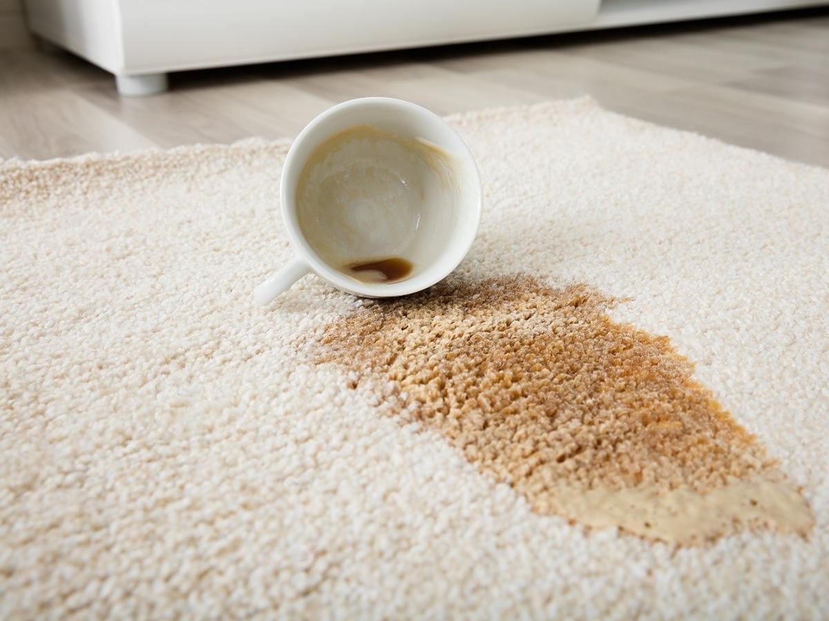 Rozlaliście kawę na dywan i powstała plama? Ten tani produkt z kuchni ją szybko usunie
