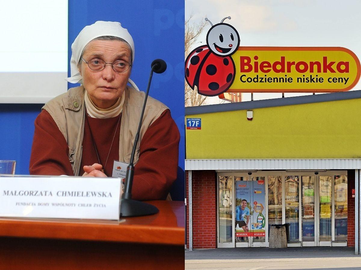 """Siostra Chmielewska zszokowana zachowaniem ludzi w Biedronce. """"Na początku zwróciłam uwagę. Potem już wymiękłam"""""""