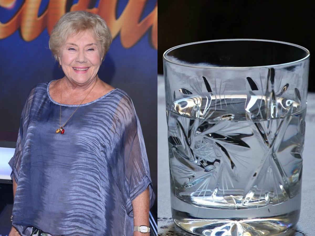 Teresa Lipowska, szklanka wody