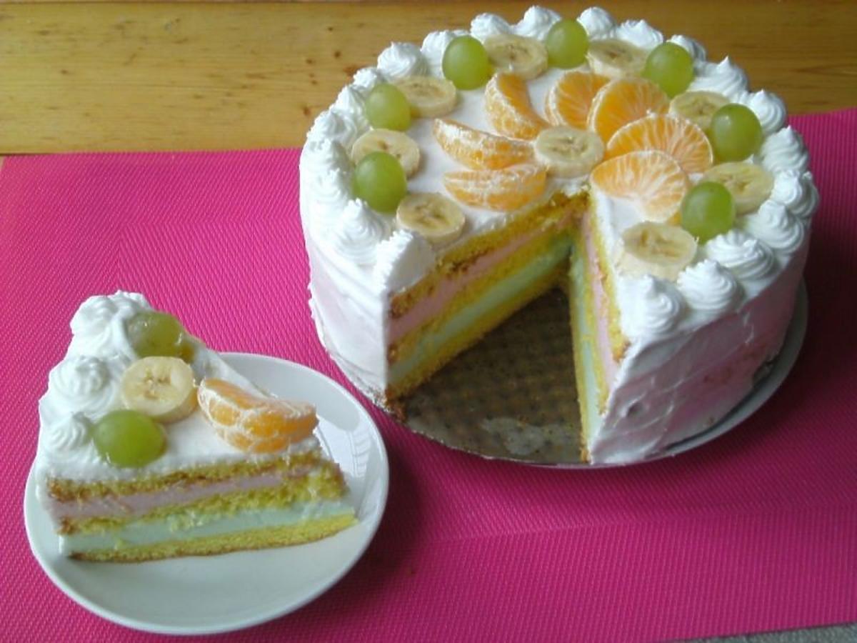 Tort z owocami na przyjęcie komunijne. Z tego przepisu zawsze wychodzi