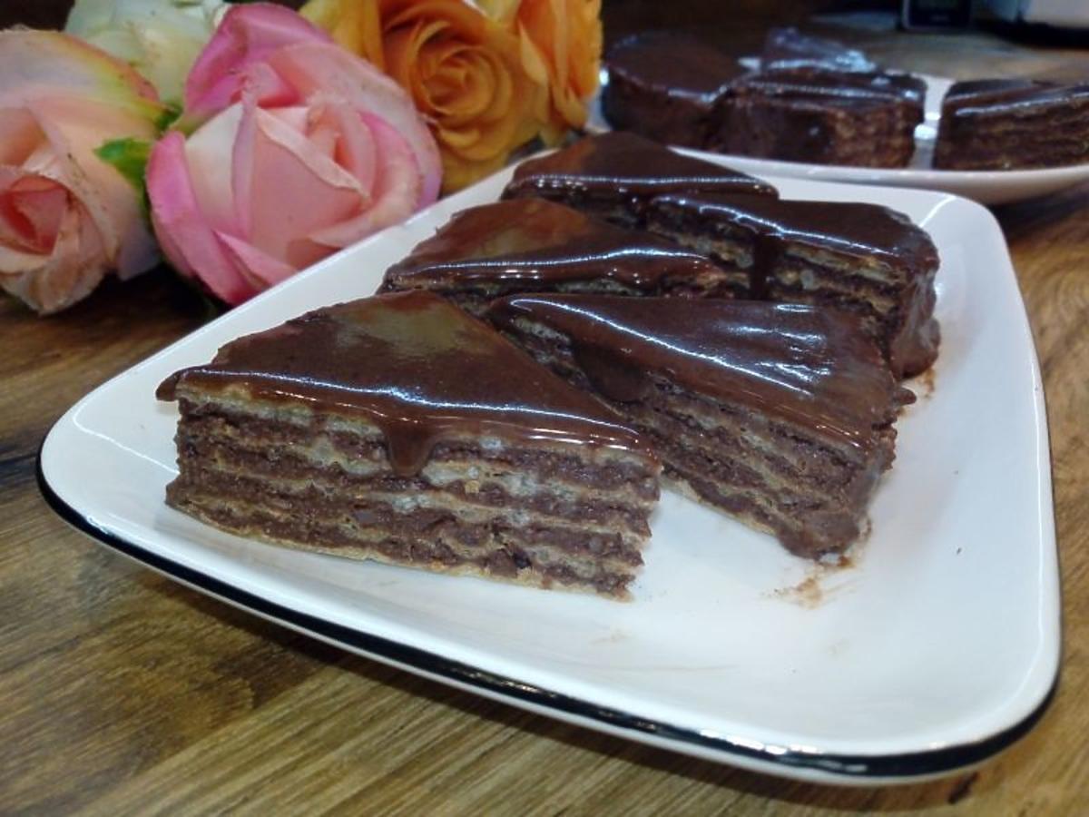 wafle w czekoladzie przepis