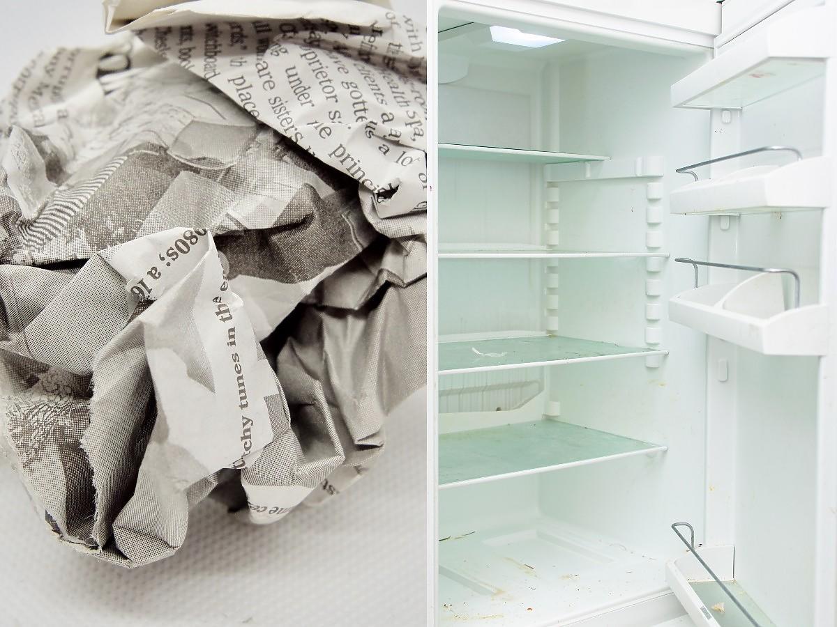 Włóżcie mokrą gazetę do lodówki. Rozwiąże pewien uciążliwy problem wielu gospodyń