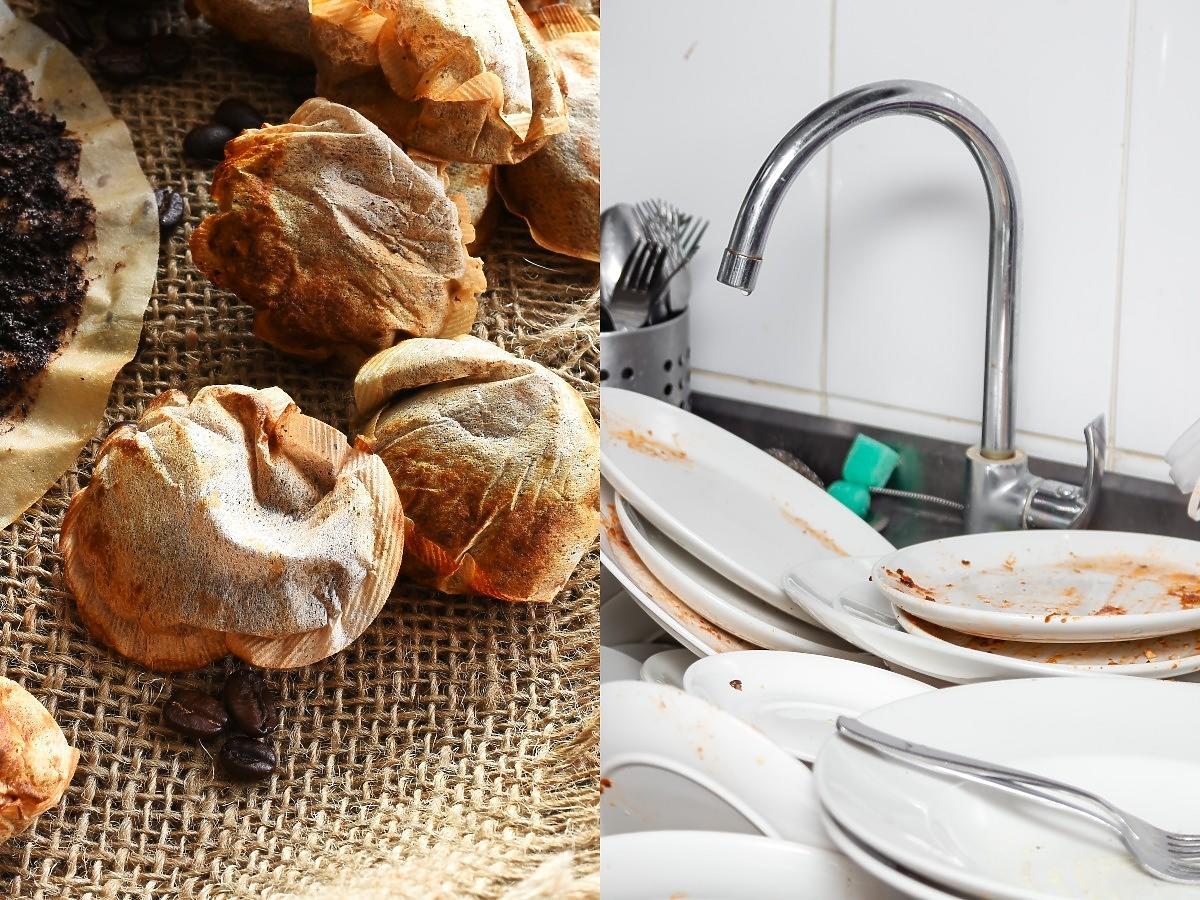 Wrzućcie torebkę po herbacie do zlewu z brudnymi naczyniami i zalejcie wodą. Ten trik to hit