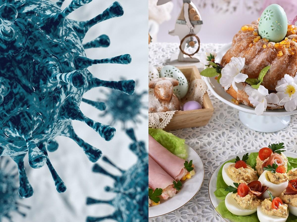 Za kilka dni wielkanocne sniadanie w rodzinnym gronie, a na świecie wykryto podwójnie zmutowanego koronawirusa