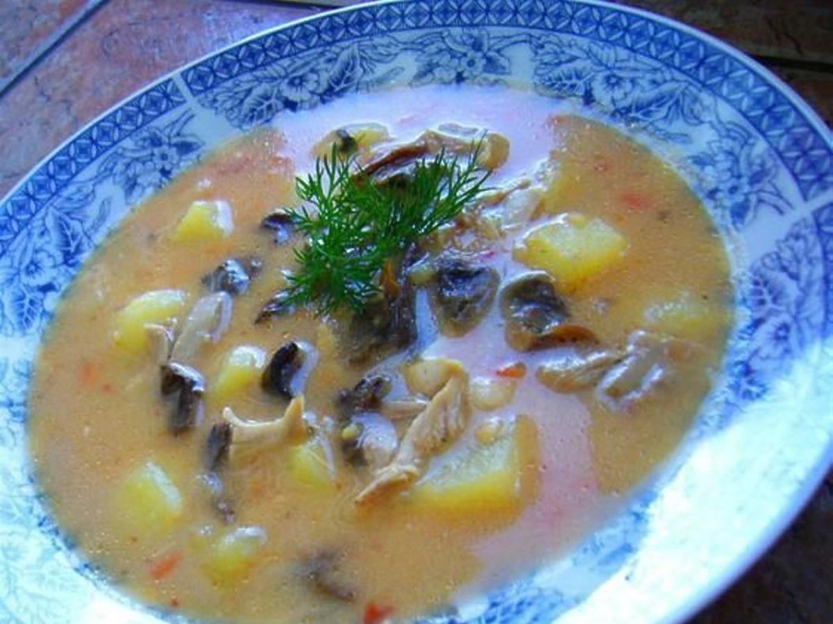zupa ogonowa z grzybami przepis